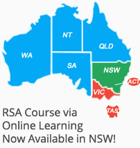 NSW Responsible Service of Alcohol New South Wales - map